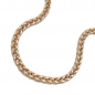 Preview: Armband Zopfkette bicolor 14Kt GOLD 19cm