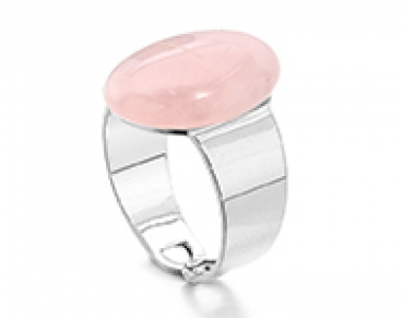 Ring mit Naturstein Rose Quartz