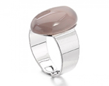 Ring mit Naturstein Grey Agate